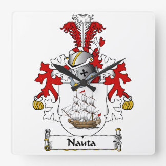 Nauta Family Crest Wall Clocks
