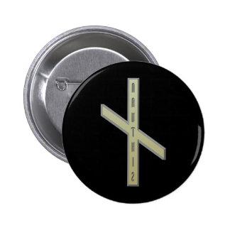 Nauthiz Rune gold Pinback Button