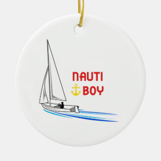 Nauti Boy Ceramic Ornament