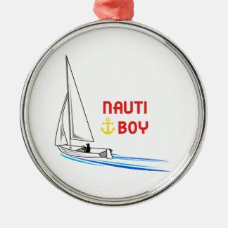 Nauti Boy Metal Ornament