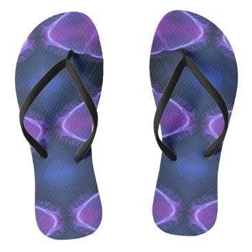 Beach Themed Nauti Purple Jellyfish Artistic Photomanipulation Flip Flops