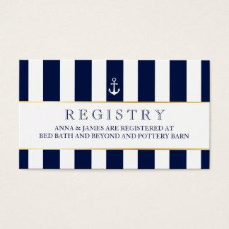 Náutica, la marina de guerra raya la tarjeta del tarjetas de visita