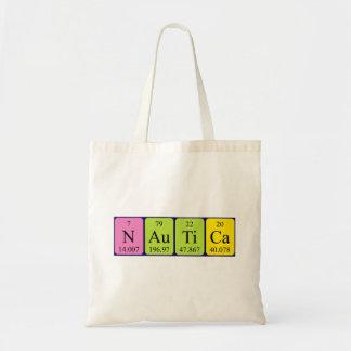 Nautica periodic table name tote bag