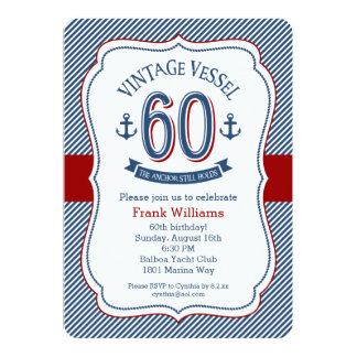 Nautical 60th Birthday Card