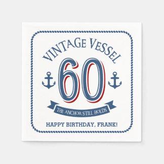 Nautical 60th Birthday Paper Napkin