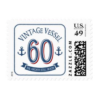 Nautical 60th Birthday Postage