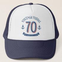 Nautical 70th Birthday Trucker Hat