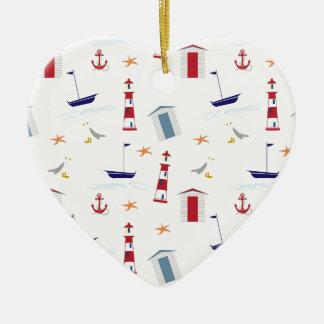 Nautical-788 Adorno De Cerámica En Forma De Corazón
