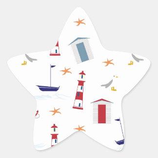 Nautical-788 Pegatina En Forma De Estrella