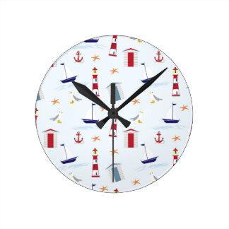 Nautical-788 Round Clock