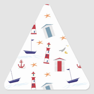 Nautical-788 Triangle Sticker
