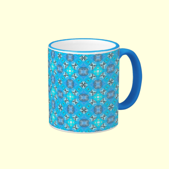 Nautical Abstract Modern Blue Star Compass Coffee Mug