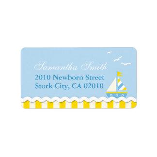 Nautical Address Label