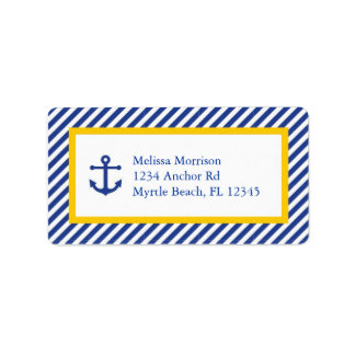Nautical Address Mailing Label