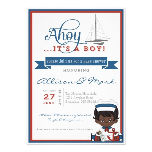 African Baby Shower Invitations with great invitations sample