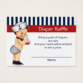 Nautical Ahoy It's a Boy Diaper Raffle Insert