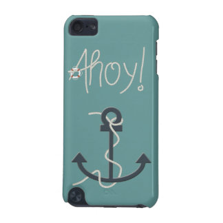 Nautical Ahoy Rope Text & Anchor iPod Case