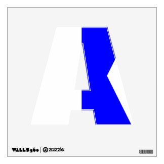 Nautical Alphabet Flag Alpha Letter A Wall Sticker