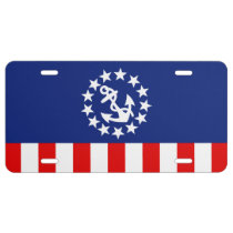 Nautical American Yacht Flag Decor License Plate