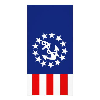 Nautical American Yacht Flag is at the Marina Card