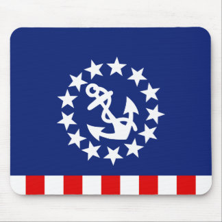 Nautical American Yacht Flag is at the Marina Mousepads