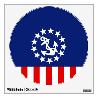 Nautical American Yacht Flag is at the Marina Wall Decal
