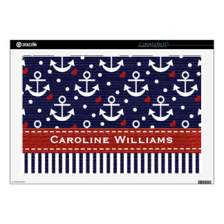 Nautical Anchor 17 Inch Laptop Skin