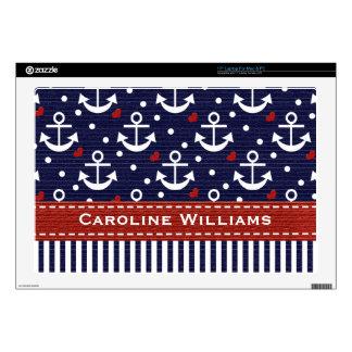 Nautical Anchor 17 Inch Laptop Skin