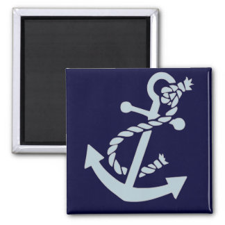 Nautical Anchor 2 Inch Square Magnet