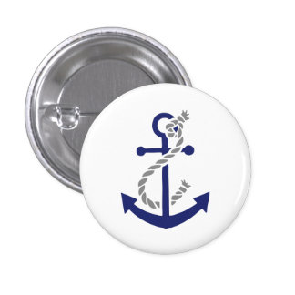 Nautical Anchor and Rope Button