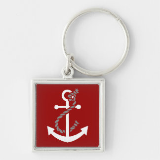 Nautical Anchor and Rope Keychain