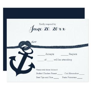 Nautical Anchor and Rope Response Dark Card