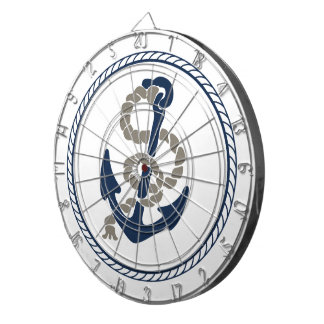 Nautical Anchor And Rope Sailing Themed Dart Board
