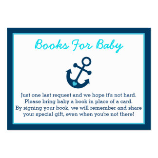 Nautical Anchor Baby Shower Book Request Cards Large Business Cards (Pack Of 100)