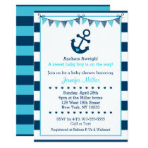 Nautical Anchor Baby Shower Card