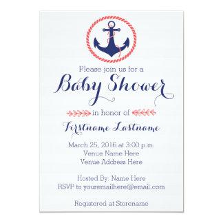 Nautical Anchor Baby Shower Card