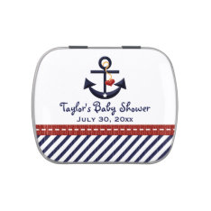 Nautical Anchor Baby Shower Favor Jelly Belly Tin at Zazzle