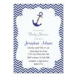 Nautical Anchor Baby Shower Invitation Navy Blue