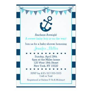 anchor baby shower invitations  announcements  zazzle, Baby shower