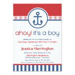 "Nautical Anchor Baby Shower Invitations 5"" X 7"" Invitation Card"