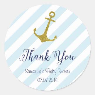 Nautical Anchor Baby Shower Sticker
