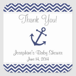 Nautical Anchor Baby Shower Stickers