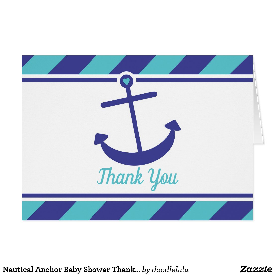 Nautical Anchor Baby Shower Thank You card