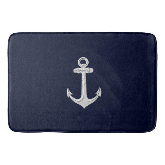 Nautical Anchor Bathroom Decor: Nautical Anchor Bathroom Decor Bath Rug Bath Mat