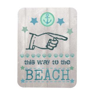 Nautical Anchor Beach Summer Flexible Magnet