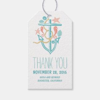 Nautical Anchor Beach Wedding Gift Tags
