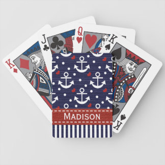 Nautical Anchor Bicycle® Playing Cards