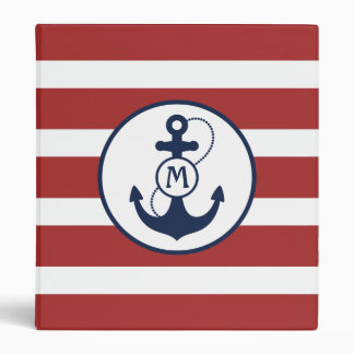 Nautical Anchor Vinyl Binders