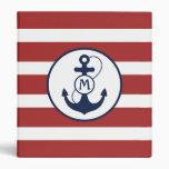 Nautical Anchor Binders