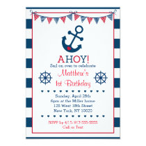 Nautical Anchor Birthday Invitations